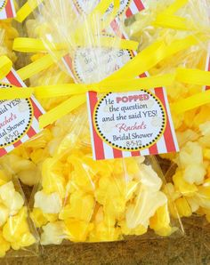 bridal shower gift idea - I love popcorn.... But it would have to be kettle corn! :)
