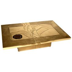 Coffee Table Etched Brass   From a unique collection of antique and modern coffee and cocktail tables at https://www.1stdibs.com/furniture/tables/coffee-tables-cocktail-tables/