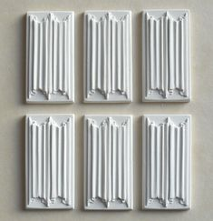 An image of <p>A set of 6 linen-fold panels that can be made up into wall panels with the use of timber strip mouldings and painted to look like wood</p>