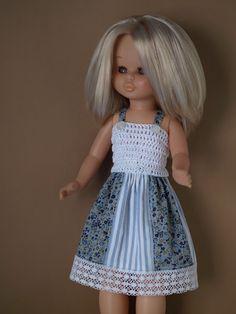 Vestidos Nancy, Nancy Doll, Baby Dress Patterns, Wellie Wishers, Crochet Dolls, American Girl, Flower Girl Dresses, Girls Dresses, Doll Clothes