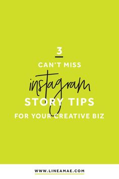 How to use Instagram stories for your creative business