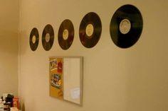 Riciclo creativo dei dischi in vinile - Quadri