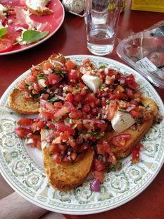 Best Ever Bruschetta Recipe – Genius Kitchen Top Ten Tasty Recipes Of All Time The Best Salt and Pepper Fish Ever Tapas, Cooking Recipes, Healthy Recipes, Kitchen Recipes, Bagels, Clean Eating Snacks, Appetizer Recipes, Best Appetizers Ever, Italian Appetizers