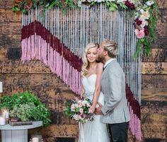 Inspiração! Decoração de casamento com artesanato – nós de macramê.