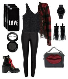 """ready for red & black ! ❤️🖤"" by rofaa187 ❤ liked on Polyvore featuring River Island, MANGO, Balmain, Gucci, Kendall + Kylie, Manic Panic NYC, Givenchy and Oscar de la Renta"