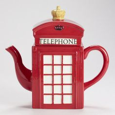 Red Phone Booth Teapot
