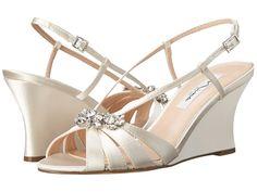 NINA NINA - VIANI (IVORY) WOMEN'S WEDGE SHOES. #nina #shoes #