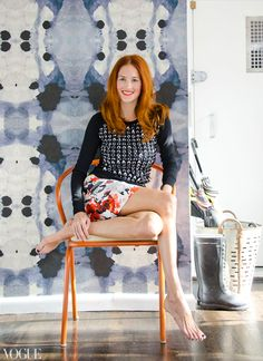 eskayel's dynasty wallpaper in Taylor Tomasi Hill's NYC apartment