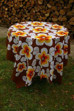 nappe fleurs années 70