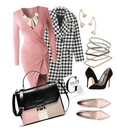 """""""Pinky Love!"""" by theonehillard on Polyvore featuring LE3NO, Kurt Geiger, Topshop, Oasis, Tory Burch, women's clothing, women, female, woman and misses"""