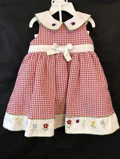 60eca63b72b B T Kids Red And White Gingham Sleeveless Dress And Matching Bloomers Size
