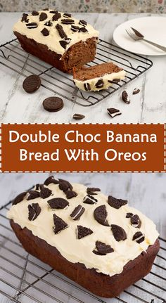Double Choc Banana Bread With Oreos