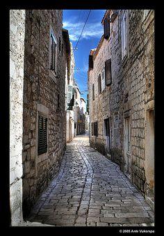 Alleys of Stari Grad, island of Hvar