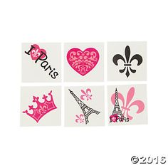 Perfectly Paris Tattoos - For the goody bag