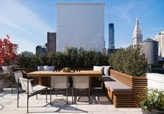 Gramercy Park Penthouse, Modern, Patio and Deck, Fox-Nahem Associates