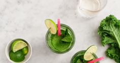 This green mojito-inspired smoothie will totally super-charge your mornings Smoothie Recipes, Smoothies, Apple News, Mojito, Healthy Drinks, Mornings, Kale, Nutrition, Inspired