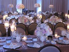 Glamorous wedding reception at Noor in Pasadena, CA. Flowers, decor and rentals by Posh Peony Floral and Event Design.