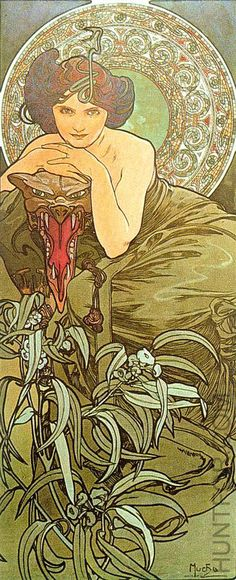 Alphonse Mucha. Yet another piece of art that reminds me of absinthe.