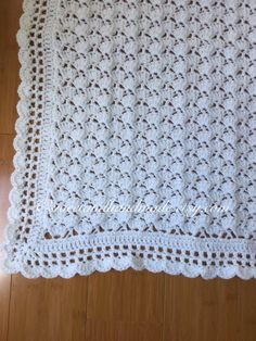 crochet baby blanket afghan blanket blanket baby shower White baby blanket READY TO SHIP Crochet Rabbit, Crochet Bebe, Crochet Girls, Baby Afghans, Baby Girl Blankets, Afghan Blanket, Baby Blanket Crochet, Lacey Pattern, Bringing Baby Home