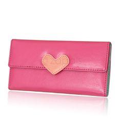 Buckle Women PU Leather Long Wallet
