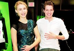 Dominic Sherwood and Lucy Fry at Vampire Academy Book Signing in New Jersey (Feb 6)