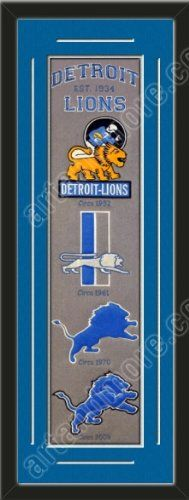 Heritage Banner Of Detroit Lions With Team Color Double Matting-Framed Awesome & Beautiful-Must For A Championship Team Fan! Most NFL Team Banners Available-Plz Go Through Description & Mention In Gift Message If Need A different Team Art and More, Davenport, IA http://www.amazon.com/dp/B00F1CKXTA/ref=cm_sw_r_pi_dp_ulfKub01TY6G8