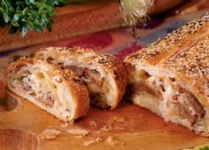 The classic combo of Brats and sauerkraut come together to make this Brat and Kraut Strudel! Fill frozen puff pastry with Johnsonville Beer 'n Bratwurst, onion, sauerkraut, sour cream, muenster cheese and impress your guests with this awesome appetizer. Ready in 30 minutes.