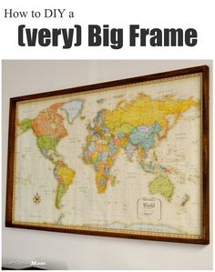 My favorite diy projects on the web pinterest wood stain easy wood frame for large format art diy solutioingenieria Gallery