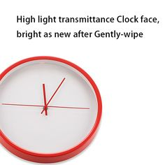 "Color Red Modern Minimalist Red Metal Wall Clock No Digital Fashion Creative Living Room Muted Wall Clock 12"" 460669"