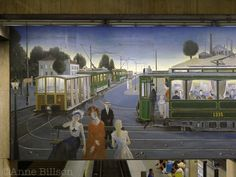 One of the grubbiest metro stations in Brussels, but it has a PAUL DELVAUX MURAL. Jean Delville, Paul Delvaux, Rene Magritte, Magic Realism, Post Impressionism, Surreal Art, Brussels, Art Pictures, Belgium