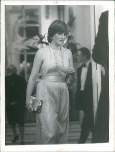 Diana at Princess Margaret's 50th birthday in 1980