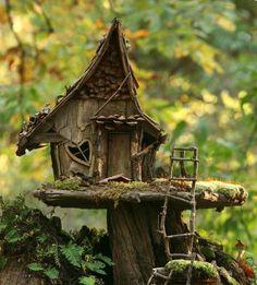 Fairy house in the garden.