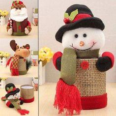 Christmas Crafts, Christmas Decorations, Decorated Jars, Felt Patterns, Door Design, Snowman, Burlap, Creations, Crochet Hats