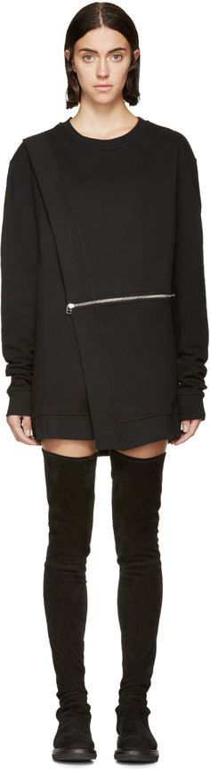 Hood by Air: Black Sari Sweatshirt | SSENSE