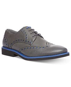 Blue Accents   Madden Men's Shoes, Lokust Wing-Tip Shoes - Lace-Ups & Oxfords - Men - Macy's