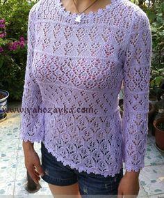 Ажурный пуловер спицами. Женские пуловеры спицами схемами | Я Хозяйка