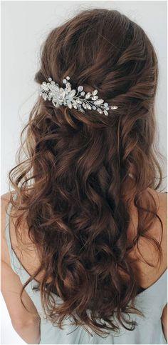 Wedding Hair Half, Wedding Hairstyles Half Up Half Down, Long Hair Wedding Styles, Wedding Hairstyles For Long Hair, Braids For Long Hair, Wedding Hair And Makeup, Homecoming Hairstyles, Long Hair Loose Curls, Box Braids