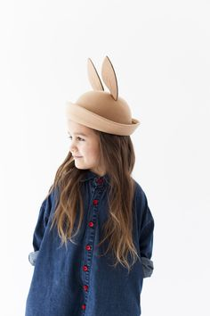 TAN BUNNY HAT from Pepper Kids