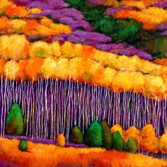 """""""Seasonal Solitude."""" Aspen forest landscape painting during the fall in the mountains of Wyoming. Original acrylic painting on canvas. Landscape painting by Johnathan Harris."""