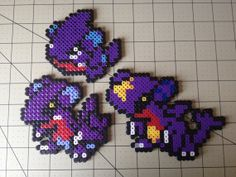 Pokemon Bead Sprite Set  Gible Family by ToughTurtles on Etsy, $7.50