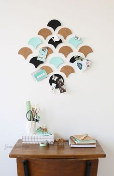Cork Mat pin board We've been looking for ideas for the eldest son's bedroom now that he is secondary school - trying to give it a more grown-up look, yet keeping it 'cool' - this includes trying to get it…
