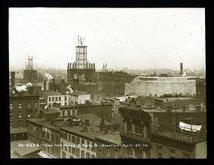 Brooklyn and main towers; from Brooklyn side. 1900. Description- April 25, 1900 Neg. by W.R. Bascomp, C.E. J.W. Kent Date-1900 Creator-W.R Bascomp