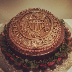 Must have this as Juan's grooms cake! Haute Sweets Patisserie Aggie Ring cake