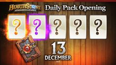 1 Legendary & 1 Epic Hearthstone Cards! #Hearthstone #Packs Opening Dail...