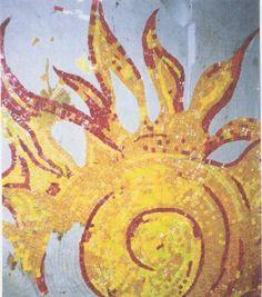 Preparo de um mosaico, pelo método indireto, para aplicação em piso de uma residência na Riviera de São Louwenço. Sueli Pessoa - Plick Ateliê - (011)  3735-6733