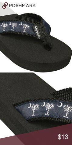 e0b6f70382f43c Kids Tidewater Navy Palmetto Flip Flops Brand New - Rubber Cushy Sole -  Super Comfortable Size