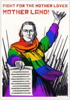 Antigos cartazes de propaganda soviética se transformam em símbolos pró-LGBT