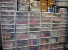 My Studio- Another wall of Drawers~ Sondra, Traders of the Lost Art 1
