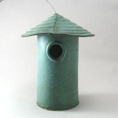 Ceramic Bird Houses | Found on etsy.com