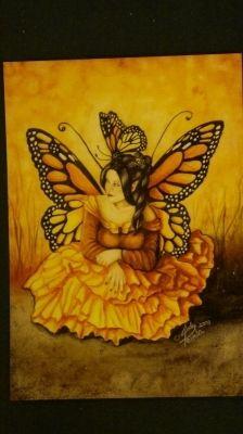 Linda Peltola postikortti Monarkkiperhosten Kuningatar 1,01